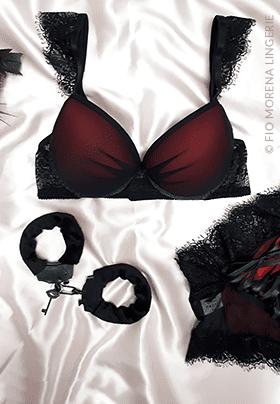 Lingerie sensual hot pant valentina com bojo fio morena lingerie jf